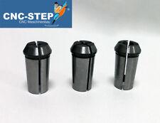 Spannzangen aus Federstahl 3er Set für Fräsmotoren Suhner,AMB,Kress f. CNC Fräse