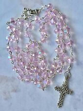 Rosary Beads Celtic Luxurious glass Crystal Faceted Handmade gift