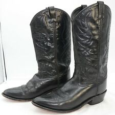 Old West Smooth Leather Cowboy Boots Medium Toe Men's Riding Western Sz 10 EE