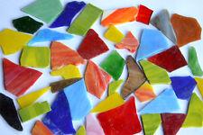 200g Tiffany-Glas bunt Glasstücke ca. 2-5cm Bruchmosaik Tiffanybruch Glasbruch