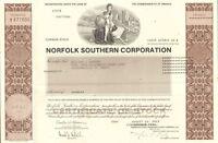 Norfolk Southern Corporation > railroad stock certificate Virginia share