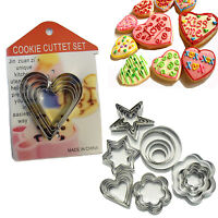 Cookie Cutters Cake Pastry Biscuit Decorating Metal Moulds Different Bake Shape