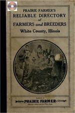 White Co Illinois Farmers Directory Carmi Grayville  IL genealogy history CD