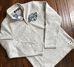 Adidas Los Angeles Kings NHL 1/4 Zip Pullover Sz Small $90