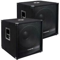 """Sound Town 18"""" 4000W Powered Subwoofers with DSP, PA Pro Audio METIS-18SPW-PAIR"""