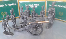 MHSP  SCÈNE CANON DE GRIBEAUVAL +7 ARTILLEURS +1 CAVALIER
