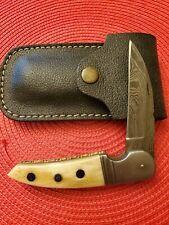 Custom Made Damascus Knife and Sheath