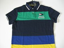 POLO RALPH LAUREN Men's Custom-Fit Offshore Racing Color-blocked Mesh Polo L