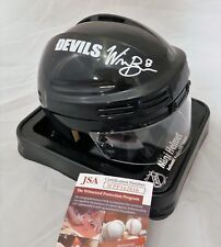 Will Butcher NJ Devils Signed / Autographed Black Mini Hockey Helmet JSA COA