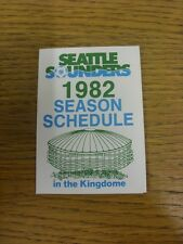 1982 Seattle Sounders: Official Soccer Fixture Card (folded style). Thanks for v