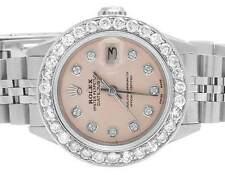 Ladies Rolex Stainless Steel 26MM Datejust Jubilee Pink Dial Diamond Watch 2.5Ct
