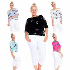 Butterfly Long Sleeve Plus Size Tops & Shirts for Women