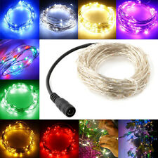 2/5/10m LED Micro Silver Wire String Fairy Party Xmas Splendid Wedding Light 12V