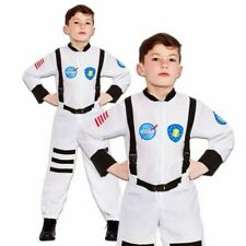 Astronaut Boys Jumpsuit White Space Suit Kids Fancy Dress Costume Childs New