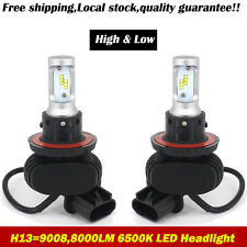 H13 9008 8000LM LED Headlight Hi/Lo Beam 50W Cool White Bulbs CSP Halogen or HID