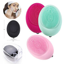 Silicone Electric Face Cleansing Brush Facial Skin Cleaner Cleaning Massager