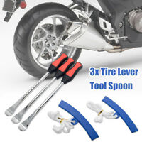 5Pcs Motorcycle Spoon Tire Iron Kit | Tire Change Lever Tool w/ Rim Protectors