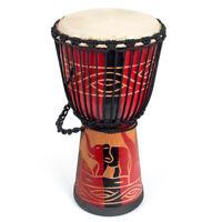 AKLOT Djembe African Drum Solid Mahogany 10 Inch for Beginner