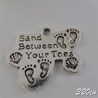 30x Vintage Silver Alloy Engraved California Pendants Finding Craft Charms 50454