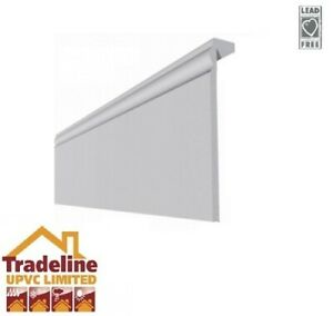 Plastic Skirting Board ( Cover Over ) Torus Edge White