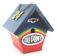 Collectible Wooden bird house Jeff Gordon 24 Du Pont Chevrolet Advertising New