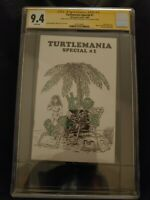 TURTLEMANIA SPECIAL #1 CGC SS 9.4 Kevin Eastman Signature One-of-a-Kind Sketch!