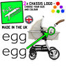 2x BabyStyle egg Replacement Logo Stickers ANY COLOUR pram buggy pushchair decal