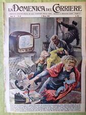La Domenica del Corriere 8 Marzo 1959 Macmillan Kruscev Longo Leucemia Lincoln