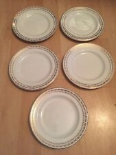 Glo White Ironstone Plates Alfred meakin england gold crown 18kt