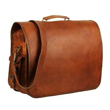 New Fashion Genuine Leather Laptop Messenger Bag For Men And Women