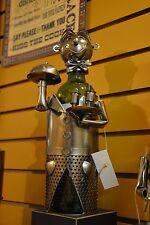 Wine Bottle Holder Waiter Metal Stainless Steel look NEW 66626 Gift  Bar Decor