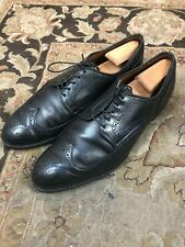 $395.00 Allen Edmonds Madison Ave 11 D Black Wingtip Derby Oxford Dress Shoes