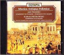 Jan WANSKI Karol PIETROWSKI 3 Symphony Robert SATANOWSKI CD The Shepherd Peasant