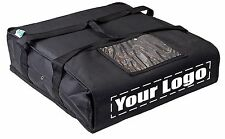 Pizza carrier, pizza delivery bag with customized imprints, foam padded interior