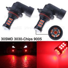 2x 9005 H10 9145 HB3 30SMD 3030 RED LED Bulbs Kit Fog Daytime Running DRL Light