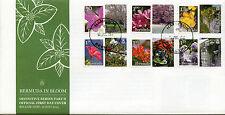 Bermuda 2015 FDC Bermuda in Bloom Part II 6v Set Cover Flowers Flora