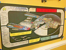 Rare 1991 Star Trek Next Generation Enterprise 1701-D cutaway poster orig papers