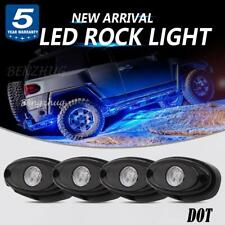 4x Blue LED Rock Lights Lamps Truck for JEEP Fender Underbody Side Marker Lights
