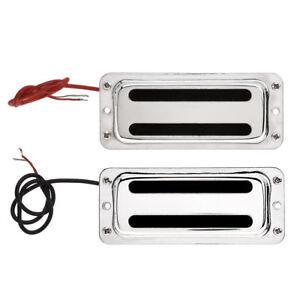1 Set Chrome Mini Humbucker Pickup Bridge and Neck for Les Paul LP Guitar