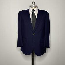 Burberry Blazer - Navy Blue Wool Gold Button Mens Size 46L Sportcoat Jacket