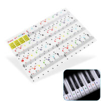 Musical Instrument Piano Keyboard Sticker Transparent Decal 54/61/88 Key Note