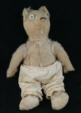 Antique Jointed Mohair Teddy Bear. 13� tall. Early 20th c. 100+ years old!