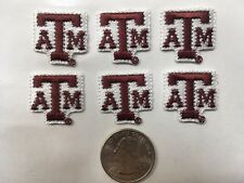 """Texas A&M University Aggies Embroidered 7/8"""" x 7/8"""" Iron-On  patch (6 piece lot)"""