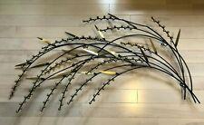 """C JERE Berries Tree Branch Leaves Wall Metal Art Sculpture MCM Brutalist 45""""W"""