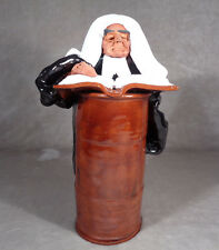 CHELSEA STUDIO POTTERY HANDCRAFTED JUDGE LAWYER BARRISTER FIGURE 11 1/4 INCHES