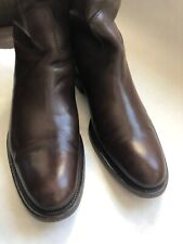 Loro Piana Womens Wellington Calf Brown Boots 39 1/2 (US 9)