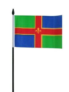 "Lincolnshire County Small Hand Waving Flag 6"" x 4"""