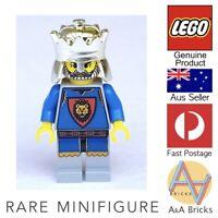 Genuine LEGO® Minifigure - Knights' Kingdom I - King Leo - RARE & RETIRED ITEM