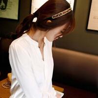 Women Ladies Summer Long Sleeve Loose Blouse V-Neck Casual Shirt Tops