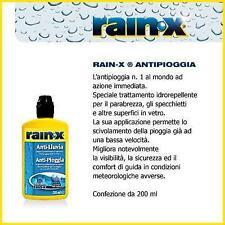 RAIN-X ANTIPIOGGIA PARABREZZA AUTO IDROREPELLENTE ACQUA VETRI AUTO CASA